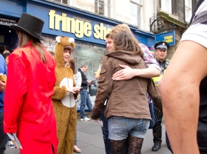 Fringe Office on Royal Mile during festival